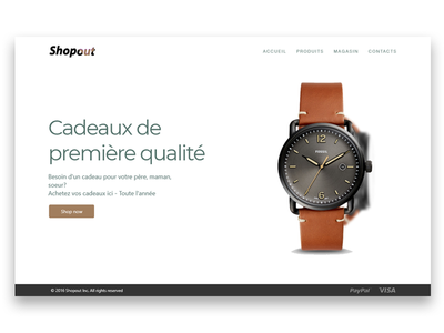 Shopout Ecommerce Landing Page shopify ui ux landing page ecom