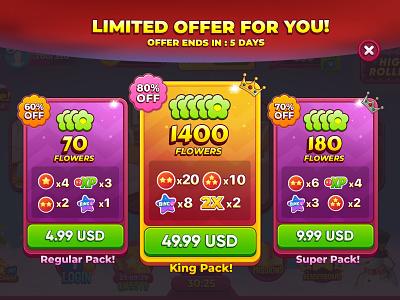 Bingo Offers! ux bingo mobilegames vector cartoon wixot uidesign offers illustration colorful