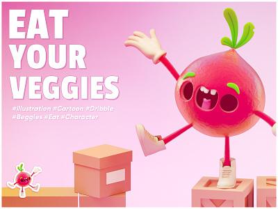 EAT YOUR VEGGIES! @thunder rockets modelling bingo 3dsmax wixot dribbble mobilegames games design illustration colorful cartoon