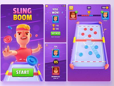 Play Slingboom NOW! 3d ilustration coronarender 3d art 3dsmax purple disc game art games character creative cartooning cartoon character cartoon