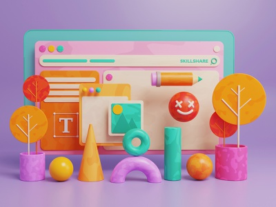Blender Study | 3D illustration blendercycles blender3dart blender3d blender modelling dribbble design illustration colorful cartoon