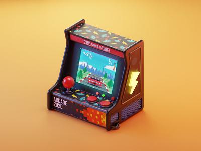 Game Machine colos arcade game machine mobilegames dribbble games illustration colorful cartoon blendercycles blender3d blender