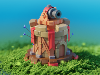 Tower Defence 3dillustrations cartoon illustration mobilegames tower blenderartwork blender3d blendercycles blender dribbble games design illustration colorful cartoon