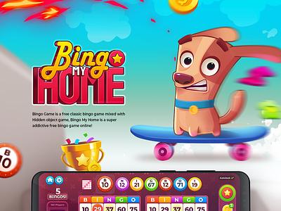 Bingo My Home wixot ui mobilegames games design illustration colorful cartoon