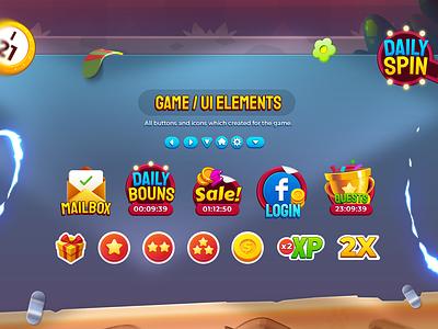 Bingo My Home Icons bingo wixot dribbble ui mobilegames games design illustration colorful cartoon