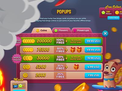 Bingo My Home Popups logo vector branding bingo dribbble vray 3dsmax ui mobilegames games design illustration colorful cartoon