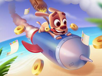 BINGO! 2020 Splash screen 3dsmax wixot dribbble colorful ui mobilegames games design illustration cartoon