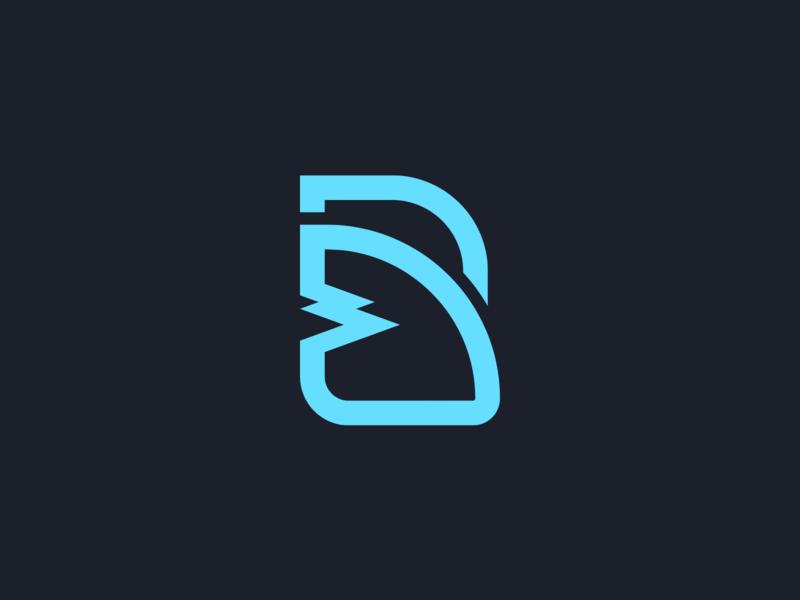 Logo B + Shark Fin marks mark symbol
