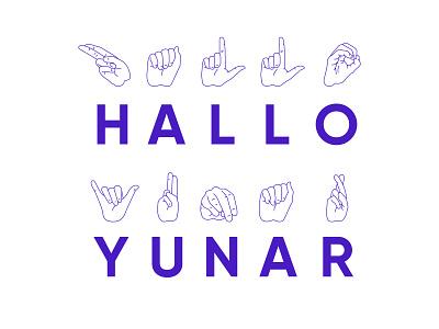 Sign Language app illustrator illustraion hands sign language