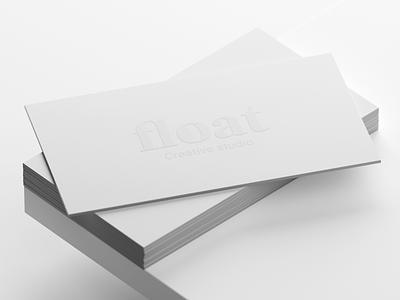 Studio Float Business Card stationery businesscard embossed emboss branding logo graphic design
