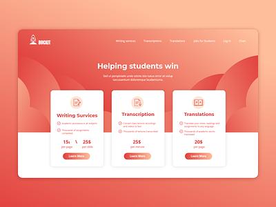 Web Home Page Variation pricing pricing page webdesign tech red orange web website design branding ui