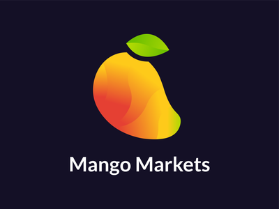 Mango Markets Logo Design gradient mango female designer freelance branding design logo hackathon winner currency trade