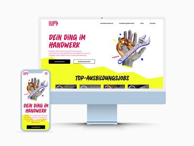 HandsUP branding design image making illustration