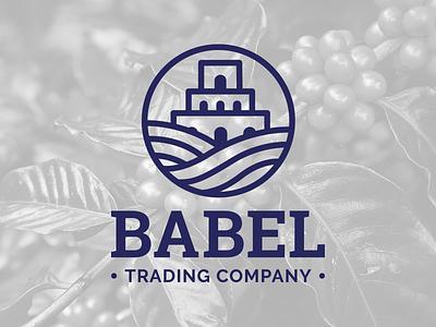 BABEL Trading Company logo branding design plants babel coffee trading logo