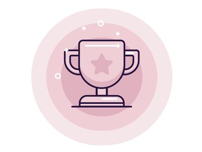 pink trophy by polina sogolov dribbble
