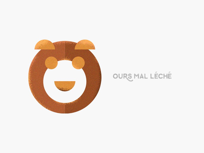 Ours mal léché colorful illustration geometry minimal bear