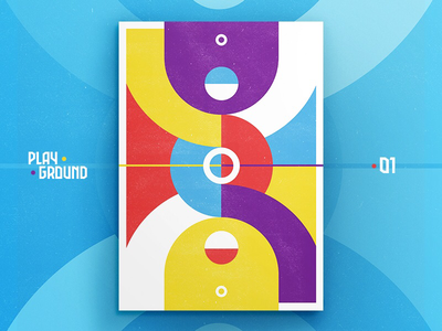 Playground • 01 • 🏀 poster nba abstract minimal field colorful illustration basketball