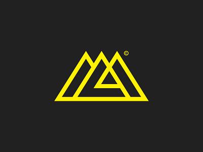 ML + Mountains / Letter Mark © branding lettermark symbol monogramm logo