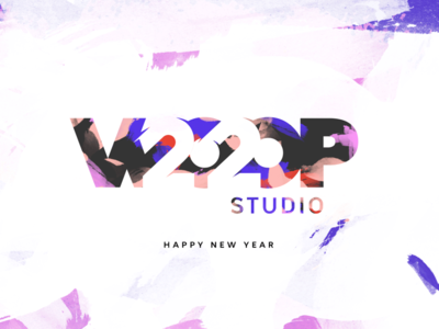 ✨ HNY ✨ newyear graphism graphics design 2020 woop studio year colors